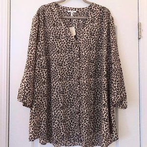 Maurices Size 4X Animal Print Blouse